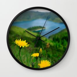 Fogo crater Wall Clock
