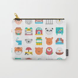 CUTE ZOO ANIMALS PATTERN Carry-All Pouch