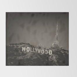 Vintage Hollywood sign Throw Blanket