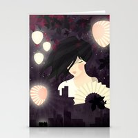 tokyo Stationery Cards featuring Tokyo by Jenny Lloyd Illustration