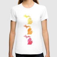 michigan T-shirts featuring Michigan by Aubrey Kemme Design