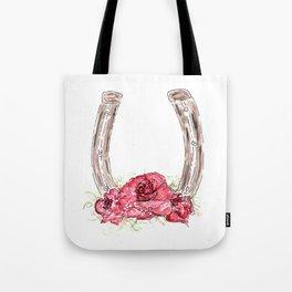 Derby Horseshoe, Roses, Kentucky, Races Tote Bag
