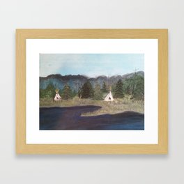 Native Camp Framed Art Print