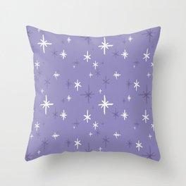 Stars Pattern - Lavender Palette Throw Pillow