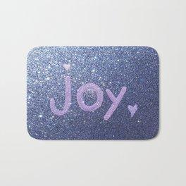 Joy Glitter Card Bath Mat