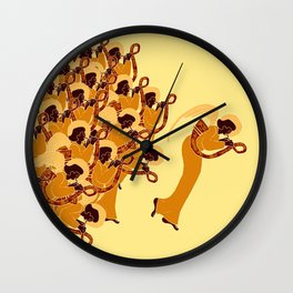 Dark Angelic Chorus #Holidaze Wall Clock