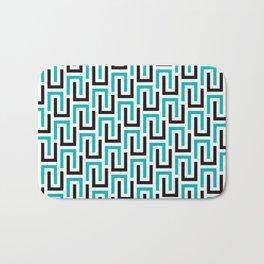 Geometric Pattern #194 (turquoise stripes) Bath Mat