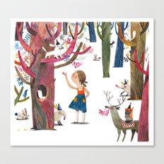 dans le bois Canvas Print