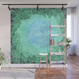 Watercolor Sea Glass Art Wall Mural
