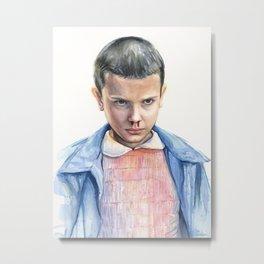 Eleven Watercolor Portrait Metal Print