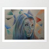 Geometric Self Portrait Art Print