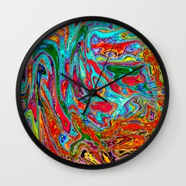 Marbled V Wall Clock