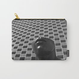 Pieces of You, Stark Modern Architecture and Male Sculpture black and white art photography Carry-All Pouch