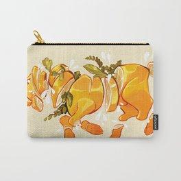 Lemon Sliced Goat Carry-All Pouch