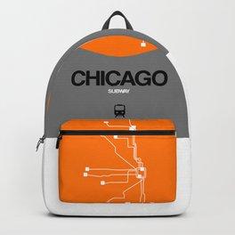 Chicago Orange Subway Map Backpack