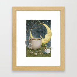 Midnight Coffee Framed Art Print