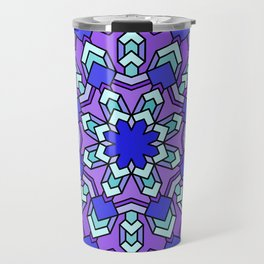 Kaleidoscope of Cool Colors Travel Mug