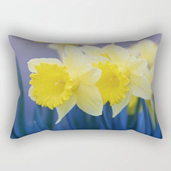 Yellow Narcissus #3 Rectangular Pillow