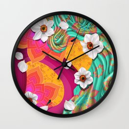 DAFFODIL'S DREAM. Wall Clock
