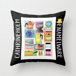 Colorful Cathrineholm Kitchen Geometric Print Throw Pillow