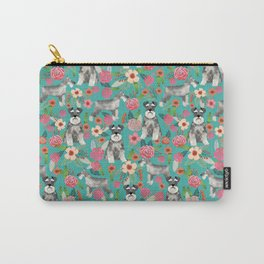 Schnauzer florals dog must have gifts for schnauzers pure breed Carry-All Pouch