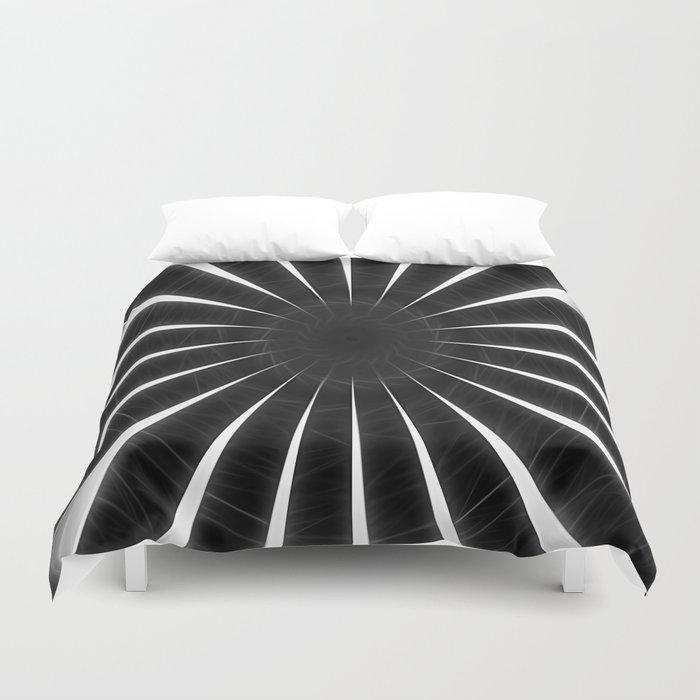 Gray Kaleidoscope Art 9 Duvet Cover