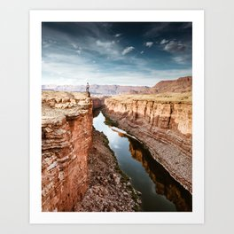 on top of the canyonland Art Print