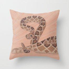 Western Diamondback Rattlesnake Throw Pillow