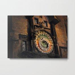 vintage clock_26 Metal Print