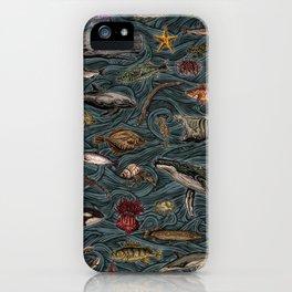 Sea & Ocean Life Maritime Pattern iPhone Case