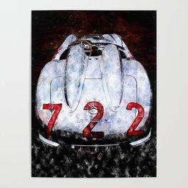 300 SLR 722 Mille Miglia Poster