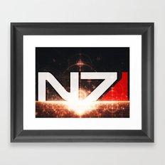 Mass Effect N7 Framed Art Print