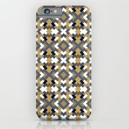 ABSTRACT caramel and indigo blue pattern iPhone Case
