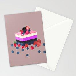 genderfluid layered cake dessert Stationery Cards