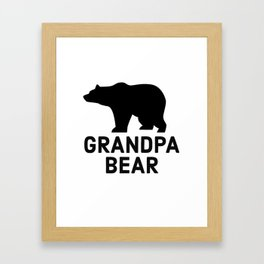Grandpa Bear Framed Art Print