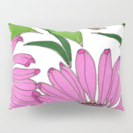 Echinacea by Mali Vargas Pillow Sham