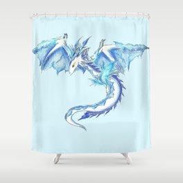 Ice Wyvern Shower Curtain
