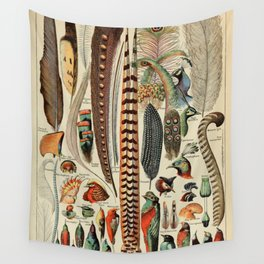 Adolphe Millot- Plumes Wall Tapestry
