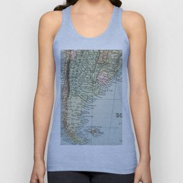 Vintage Map of the South of America Unisex Tank Top