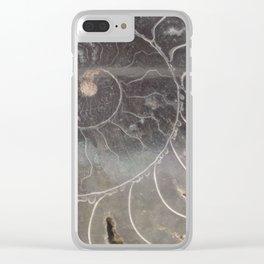 Macro Ammonite Clear iPhone Case