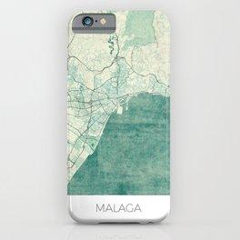 Malaga Map Blue Vintage iPhone Case
