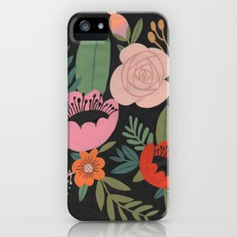 Floral Guache iPhone Case
