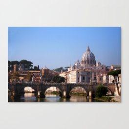 Panorama of Rome and Vatican Canvas Print