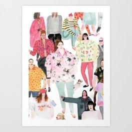 people (original) Art Print