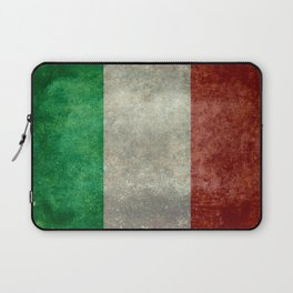 Italian flag, vintage retro style Laptop Sleeve