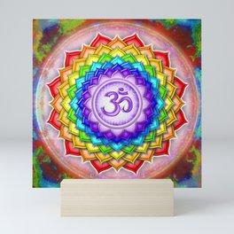 Sahasrara Chakra Series V - Rainbow Lotus Mini Art Print