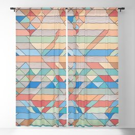 Triangle Pattern no.2 Colorful Blackout Curtain