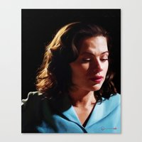 peggy carter Canvas Prints featuring Agent Peggy Carter by Stephanie Wu