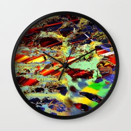 some birch color pattern Wall Clock