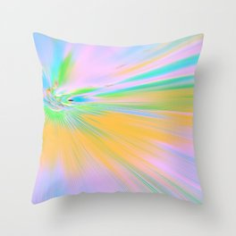 Re-Created Rapture 5 by Robert S. Lee Throw Pillow